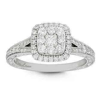 Neil Lane 14ct Platinum 0.69ct Princess Cut Diamond Ring - Product number 2843048
