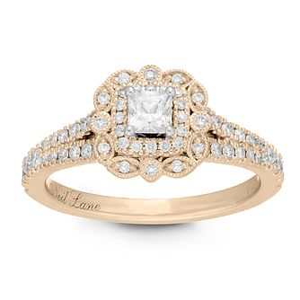 Neil Lane 14ct Yellow Gold 0.68ct Princess Cut Diamond Ring - Product number 2843269