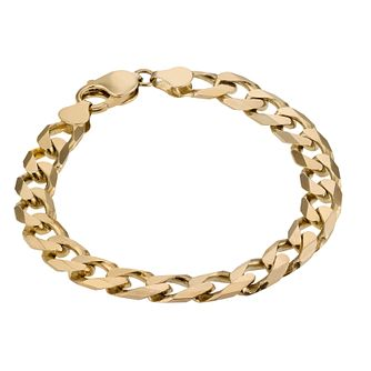 9ct Gold 8 inches Solid Curb Bracelet - Product number 2843323