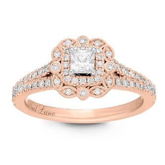 Neil Lane 14ct Rose Gold 0.68ct Princess Cut Diamond Ring - Product number 2843420