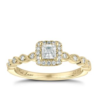 Neil Lane 14ct Yellow Gold 0.41ct Princess Cut Diamond Ring - Product number 2843692
