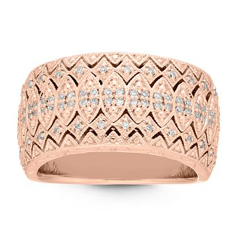 Neil Lane 14ct Rose Gold 1/4ct Diamond Ring - Product number 2844451