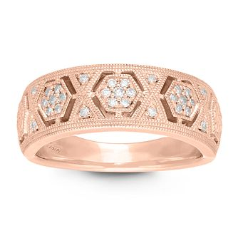 Neil Lane 14ct Rose Gold 1/10ct Diamond Ring - Product number 2845121