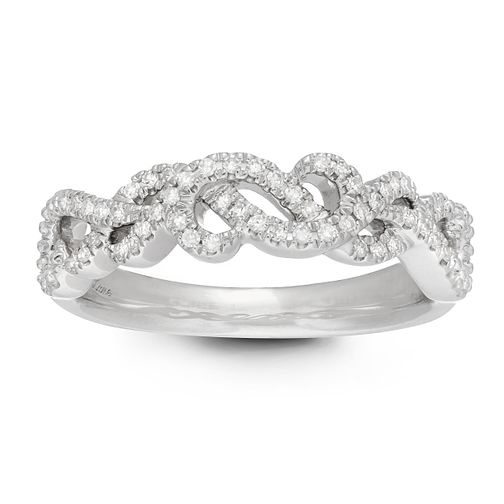 Neil Lane 14ct White Gold 0.15ct Diamond Twist Vine Ring - Product number 2845318