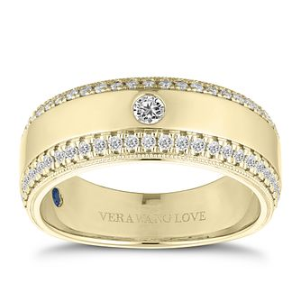 Vera Wang 18ct Yellow Gold Men's 0.45ct Diamond Band - Product number 2846667