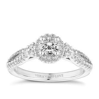 Vera Wang Platinum 0.70ct Diamond Halo Ring - Product number 2847108