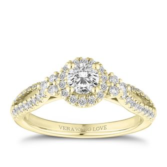 Vera Wang 18ct Yellow Gold 0.70ct Diamond Halo Ring - Product number 2847221