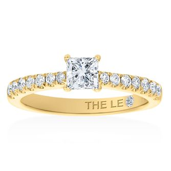 Leo Diamond 18ct Yellow Gold 2/3ct Princess Cut Ring - Product number 2848627
