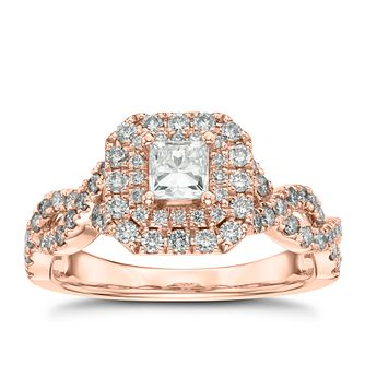 Vera Wang 18ct Rose Gold 95Pt Diamond Ring - Product number 2849011