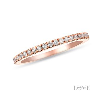 Vera Wang 18ct Rose Gold 0.23ct Diamond Ring - Product number 2849143