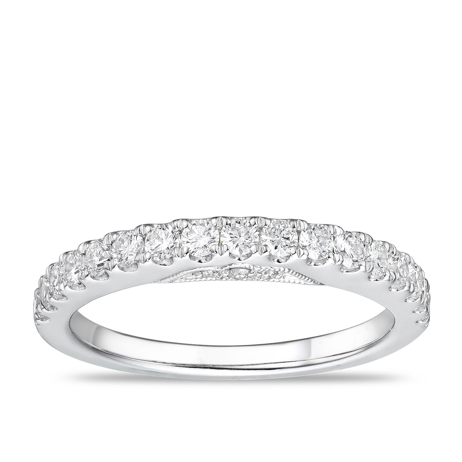 Tolkowsky Platinum 1/2ct Diamond Wedding Band - Product number 2849607