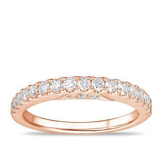 Tolkowsky 18ct Rose Gold 1/2ct Diamond Wedding Band - Product number 2849747