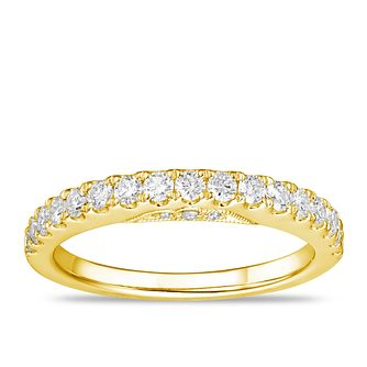Tolkowsky 18ct Yellow Gold 1/2ct Diamond Wedding Band - Product number 2849909