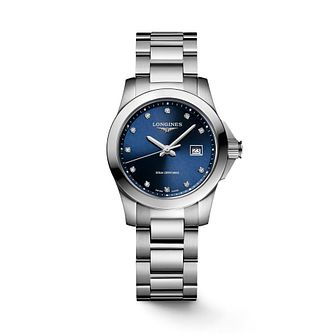 Longines Conquest Ladies' Stainless Steel Bracelet Watch - Product number 2850656