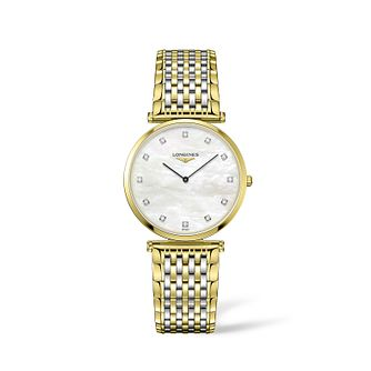 Longines La Grande Classique Ladies Diamond Two Tone Watch - Product number 2850664