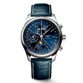 Longines Master Collection Men's Blue Leather Strap Watch - Product number 2850710