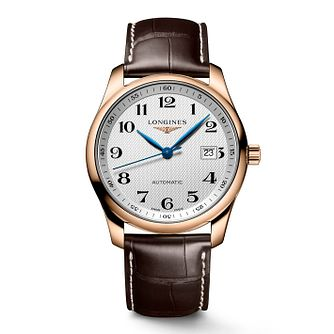 Longines Master Collection Men's Brown Leather Strap Watch - Product number 2850753