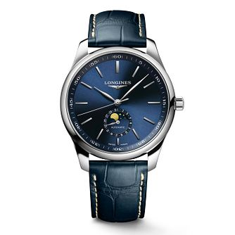 Longines Master Collection Moonphase Leather Strap Watch - Product number 2850826