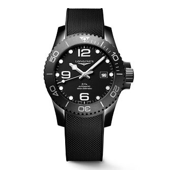 Longines Hydroconquest Men's Black Rubber Strap Watch - Product number 2852438