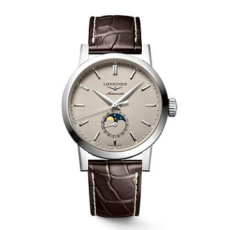 Longines 1832 Moonphase Men's Brown Leather Strap Watch - Product number 2852489