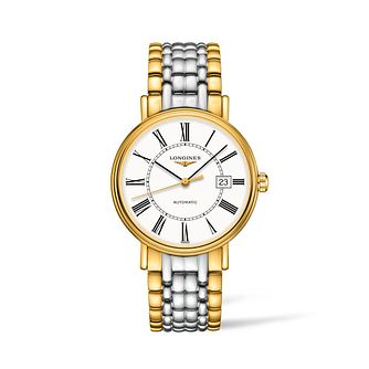 Longines Presence Men's Two Tone Bracelet Watch - Product number 2852527