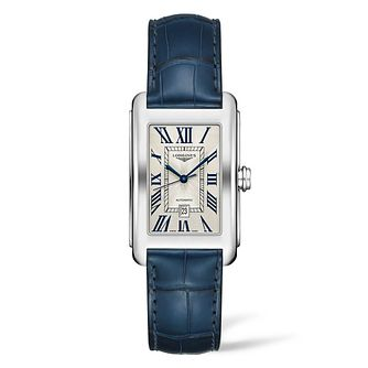 Longines Dolcevita Men's Blue Leather Strap Watch - Product number 2852799