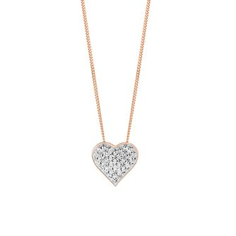 Evoke Silver & 9ct Rose Gold Plated Swarovski Pendant - Product number 2864193