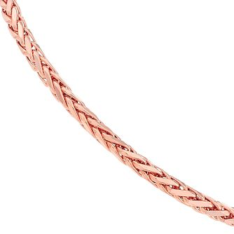 9ct Rose Gold Spiga Chain Bracelet - Product number 2866714