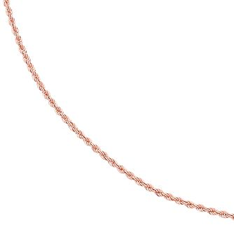 9ct Rose Gold Rope Chain Necklace - Product number 2866722