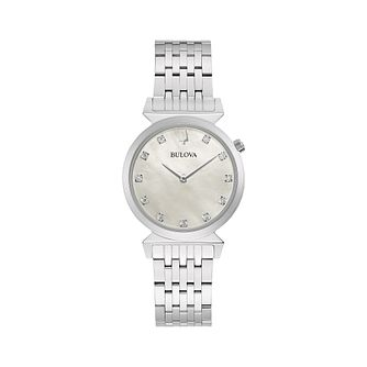Bulova Classic Regatta Ladies' Silver Tone Bracelet Watch - Product number 2871661