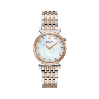 Bulova Classic Regatta Ladies' Two-Tone Bracelet Watch - Product number 2871696