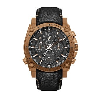 Bulova Precisionist Men's Black Leather Strap Watch - Product number 2871793