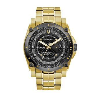 Bulova Precisionist Men's Gold Tone Bracelet Strap Watch - Product number 2872412