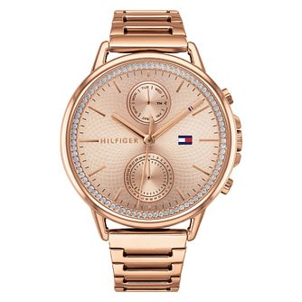 Tommy Hilfiger Carly Ladies' Rose Gold Tone Bracelet Watch - Product number 2872455