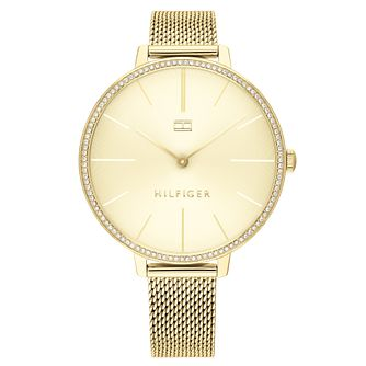 Tommy Hilfiger Ladies' Gold IP Mesh Bracelet Watch - Product number 2872528