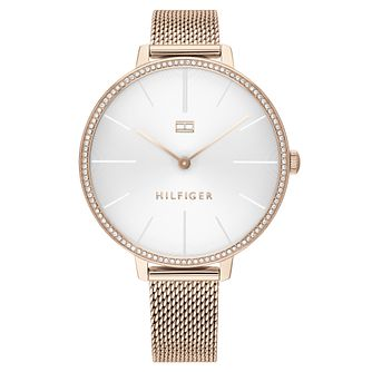 Tommy Hilfiger Ladies' Rose Gold IP Mesh Bracelet Watch - Product number 2872536
