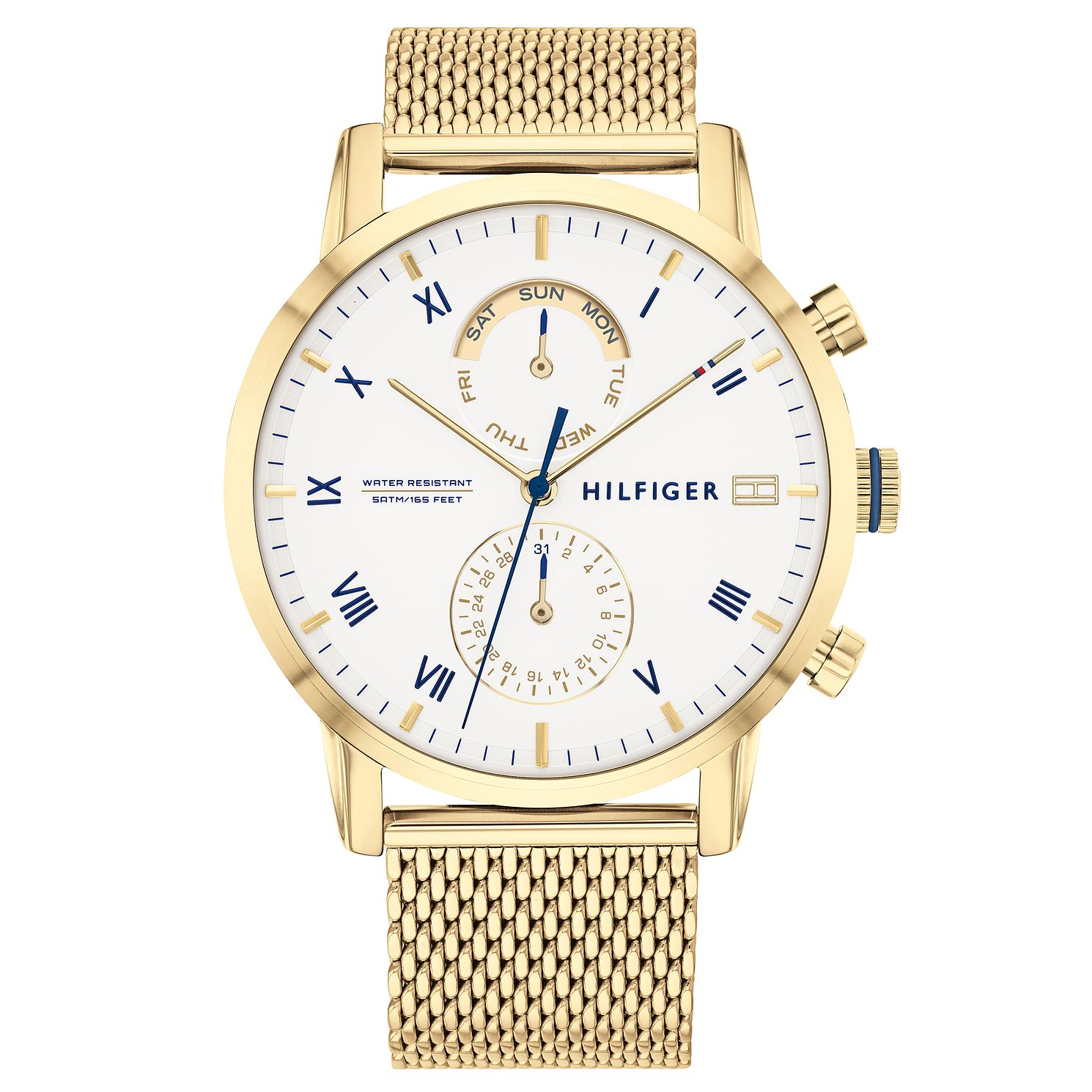Tommy Hilfiger Kane Gold Tone Mesh Bracelet Watch - Product number 2873834