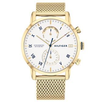 Tommy Hilfiger Men's Gold IP Mesh Bracelet Watch - Product number 2873834