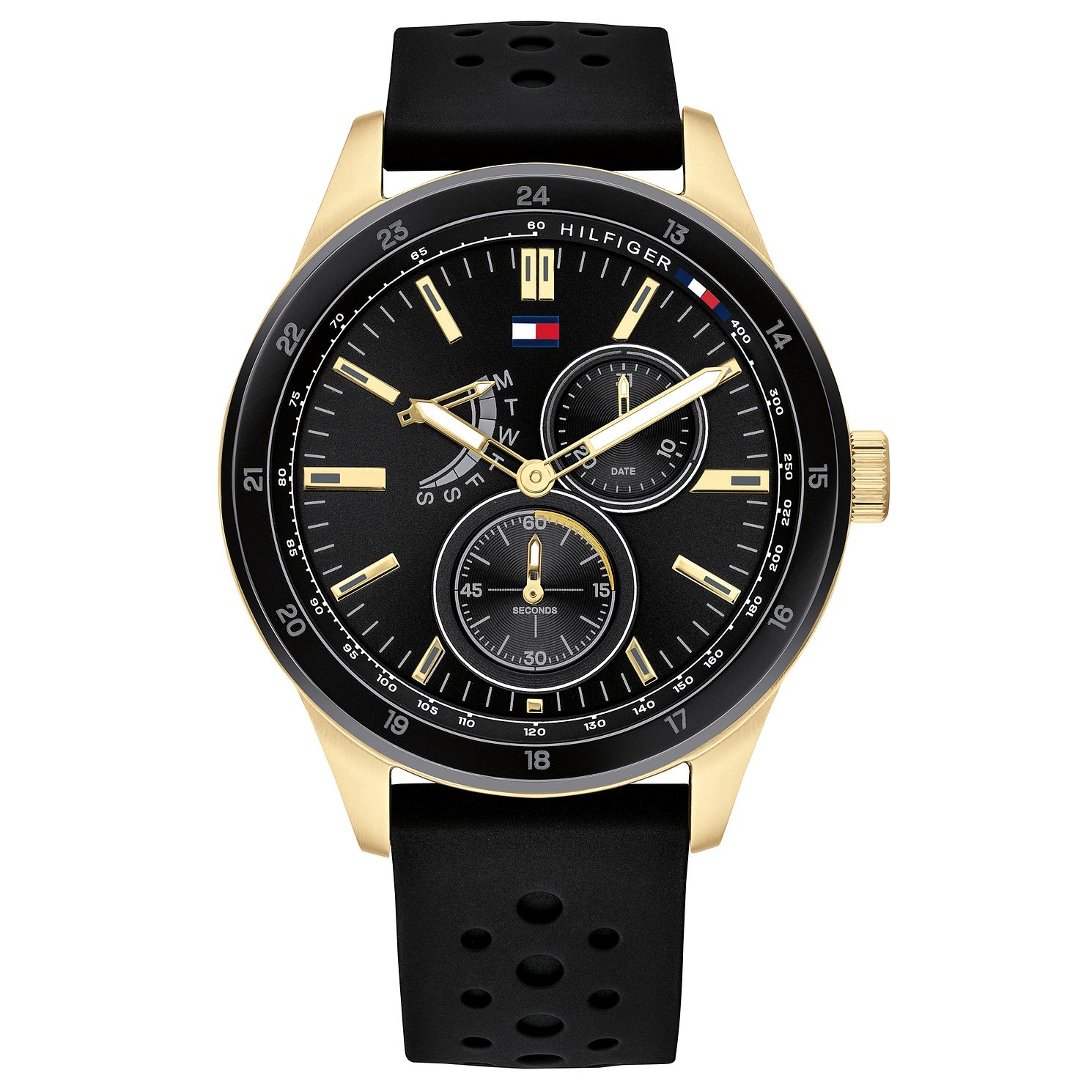 Tommy Hilfiger Men's Black Silicone Strap Watch - Product number 2874016
