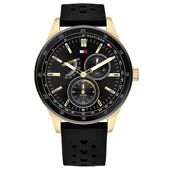 Tommy Hilfiger Austin Black Rubber Strap Watch - Product number 2874016