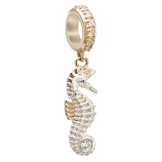 Chamilia Silver, Gold & Swarovski Zirconia Seahorse Charm - Product number 2874091
