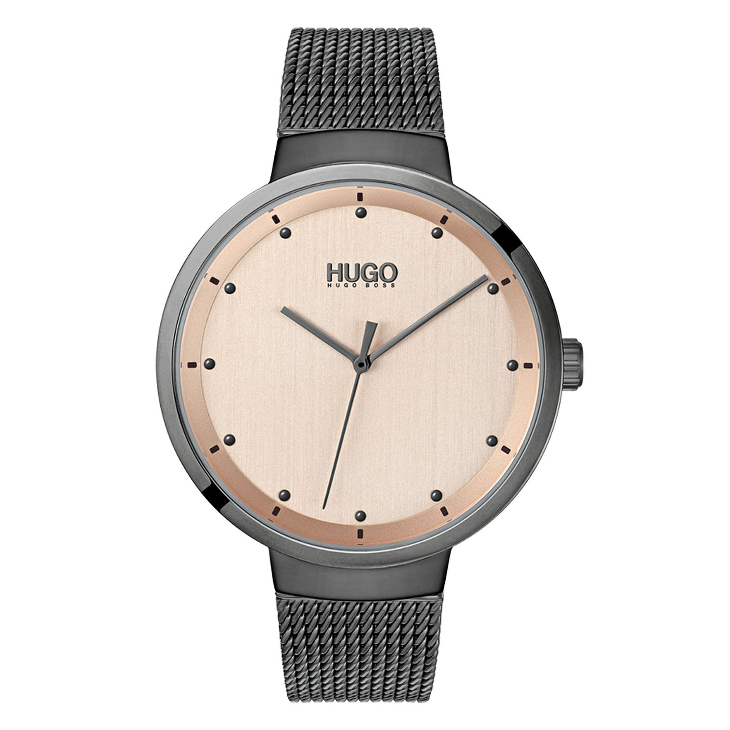 HUGO GO Ladies' Grey IP Mesh Bracelet Watch - Product number 2874164