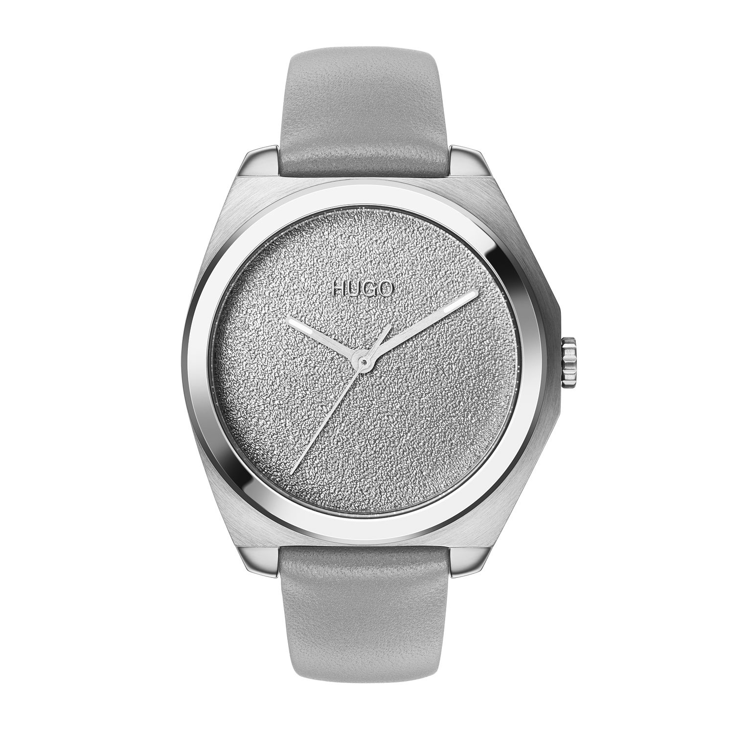 HUGO Imagine Ladies' Grey Leather Strap Watch - Product number 2874199