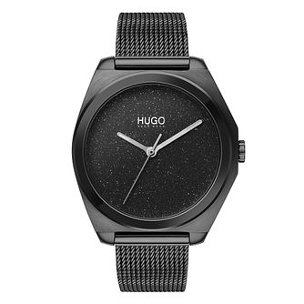 HUGO IMAGINE Ladies' Black IP Mesh Bracelet Watch - Product number 2874202