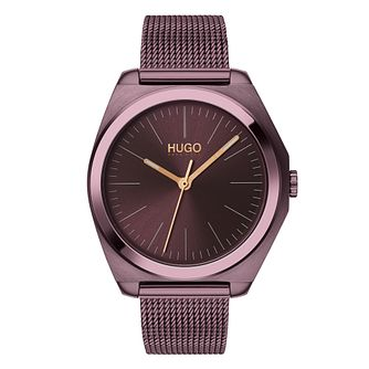 HUGO IMAGINE Ladies' Purple IP Mesh Bracelet Watch - Product number 2874210