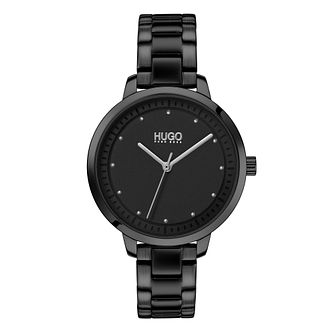 HUGO Achieve Ladies' Black IP Bracelet Watch - Product number 2874342