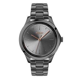 HUGO Fearless Ladies' Grey IP Bracelet Watch - Product number 2875128