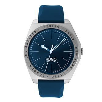 HUGO ACT Men's Blue Silicone Strap Watch - Product number 2876019