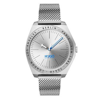 HUGO ACT Men's Stainless Steel Mesh Bracelet Watch - Product number 2876078