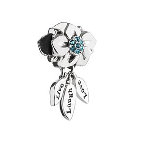 Chamilia Live, Laugh, Love Charm with Swarovski Crystal - Product number 2876280